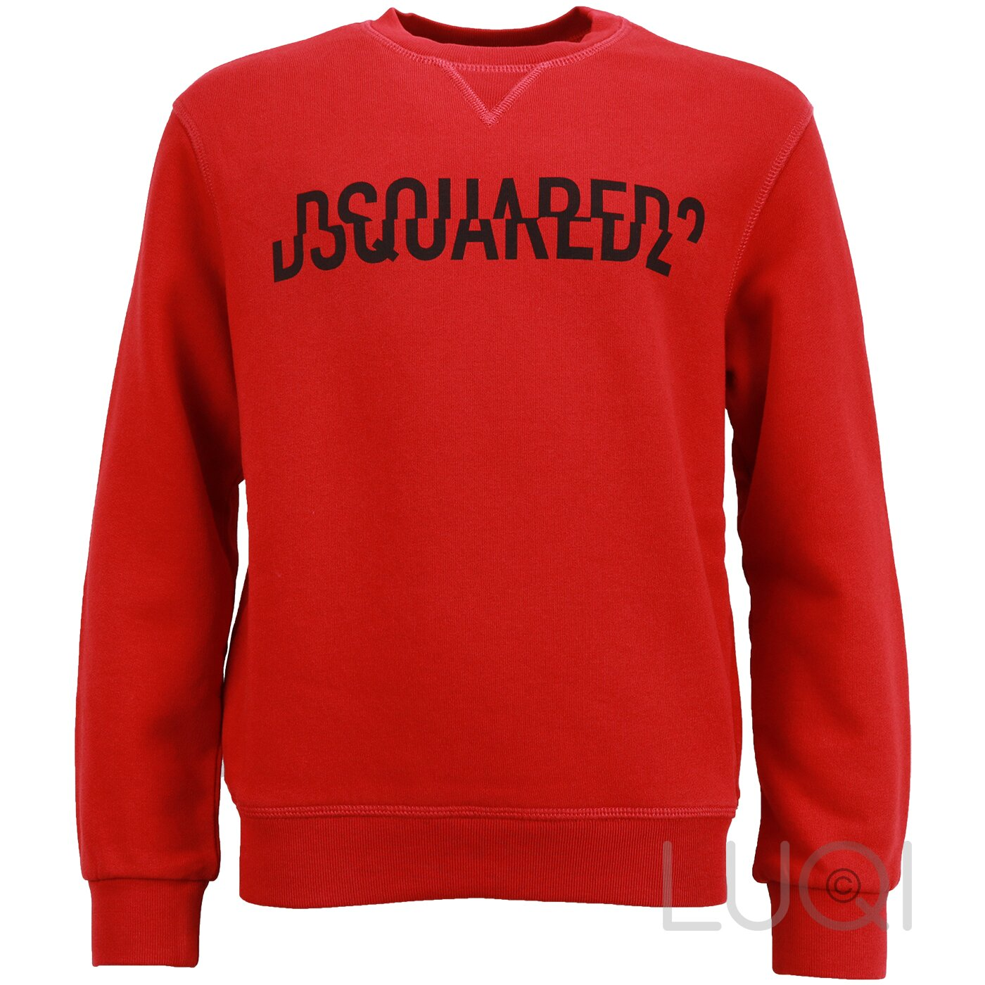 Dsquared2 Sweater rood met logo relax fit