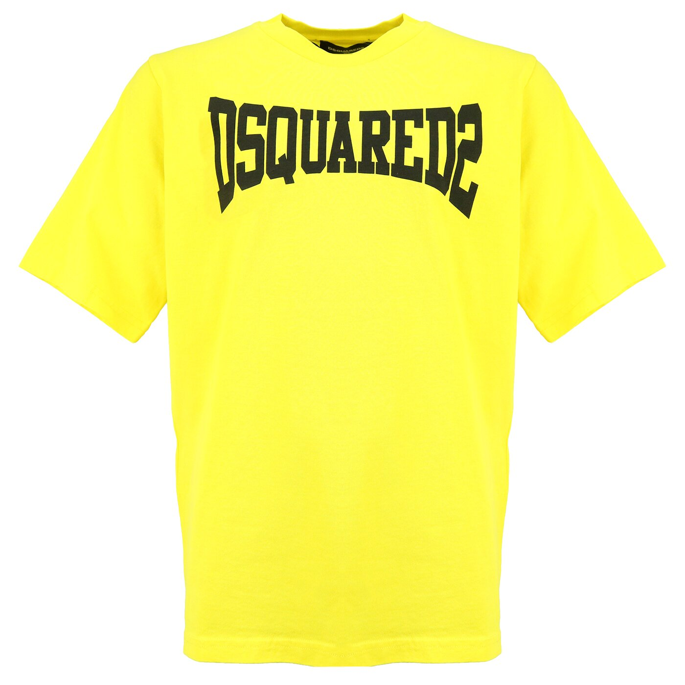 Dsquared2 Shirt DQ0156 Geel Oversized Fit