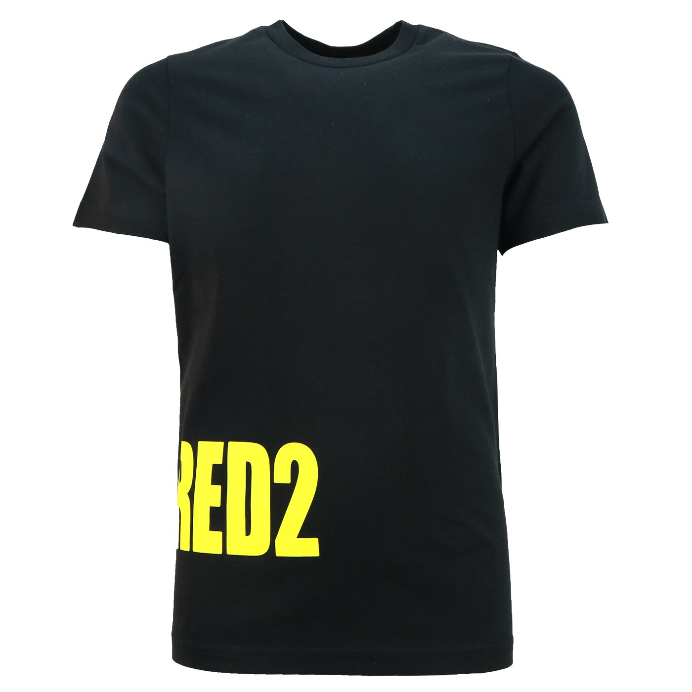Dsquared2 Shirt zwart met geel side logo