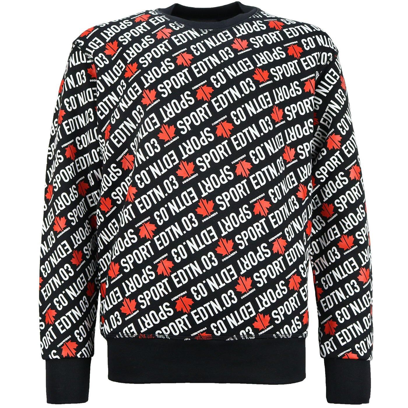 Dsquared2 Sweater Sport Zwart Cool Fit