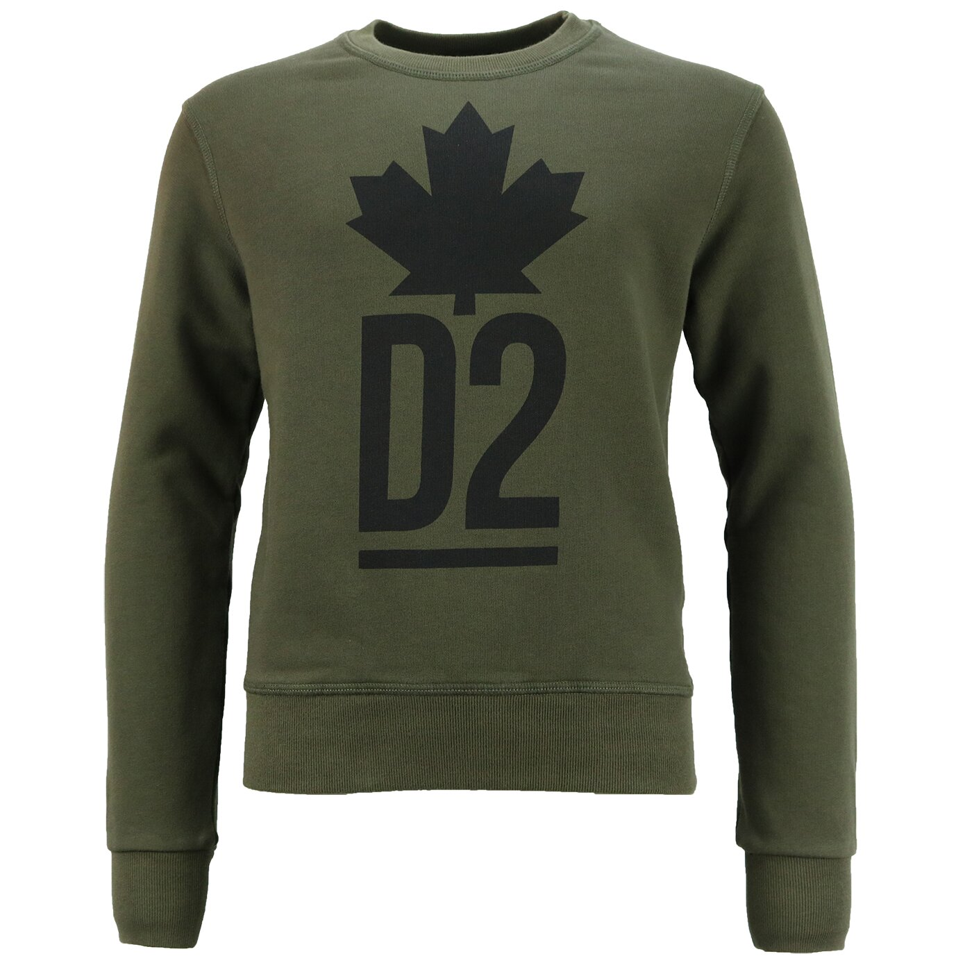 Dsquared2 Sweater Groen Maple Leaf