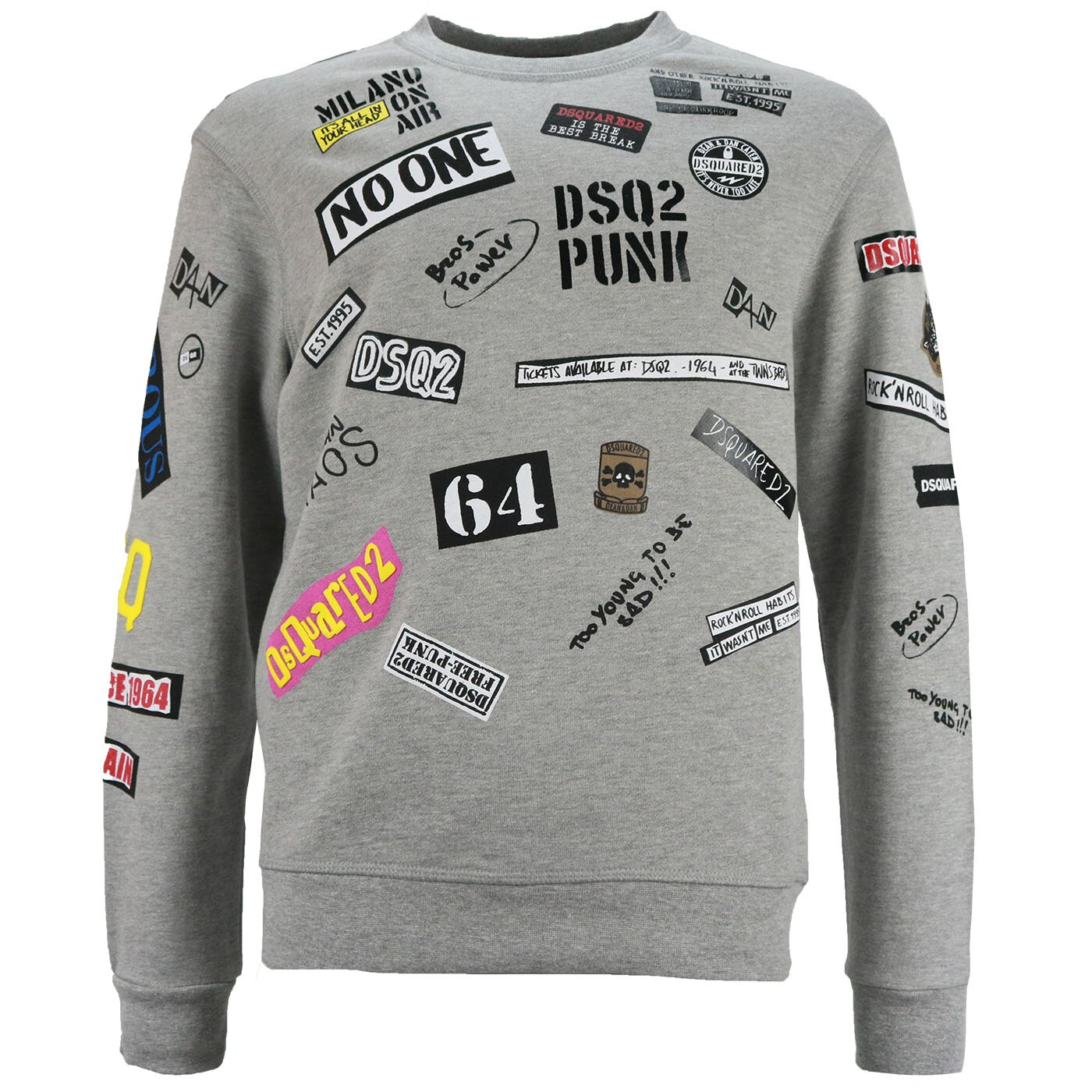 Dsquared2 Sweater Grijs Punk