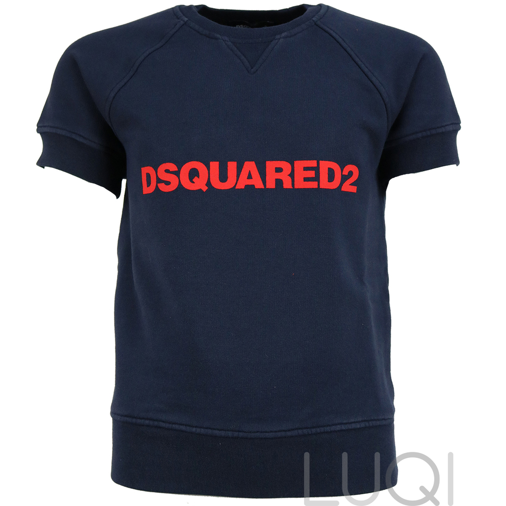 Dsquared² Sweater Shortsleeve Dark Blue
