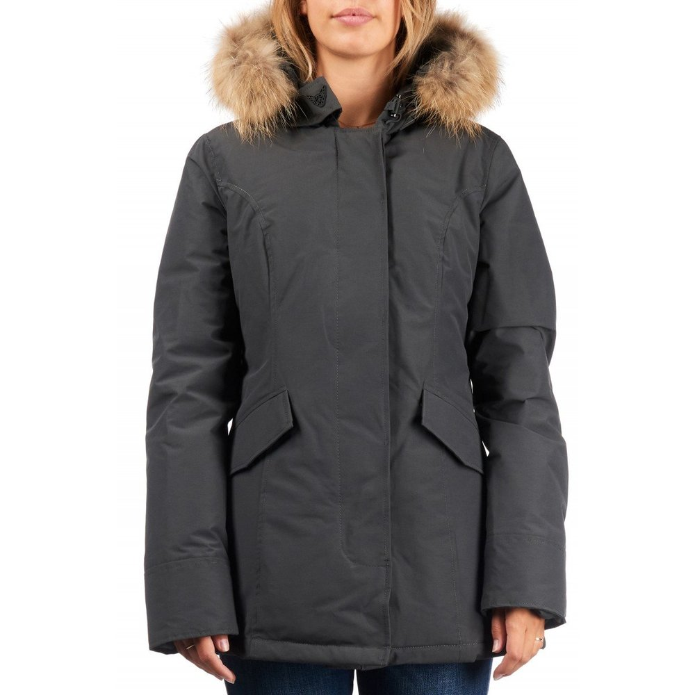 Airforce 2 pocket Parka Polyester Women RF Metal Grey