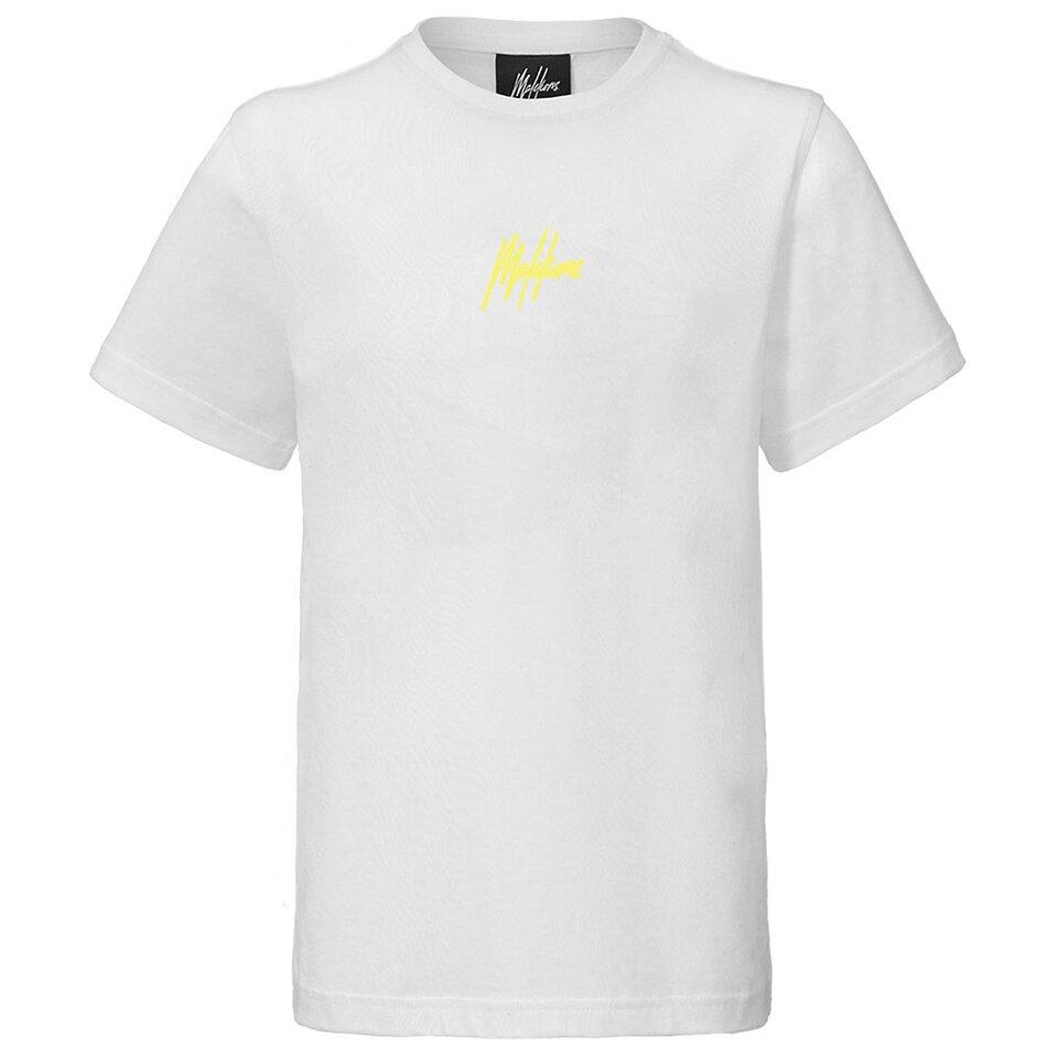 Malelions Junior Signature T-Shirt White Yellow