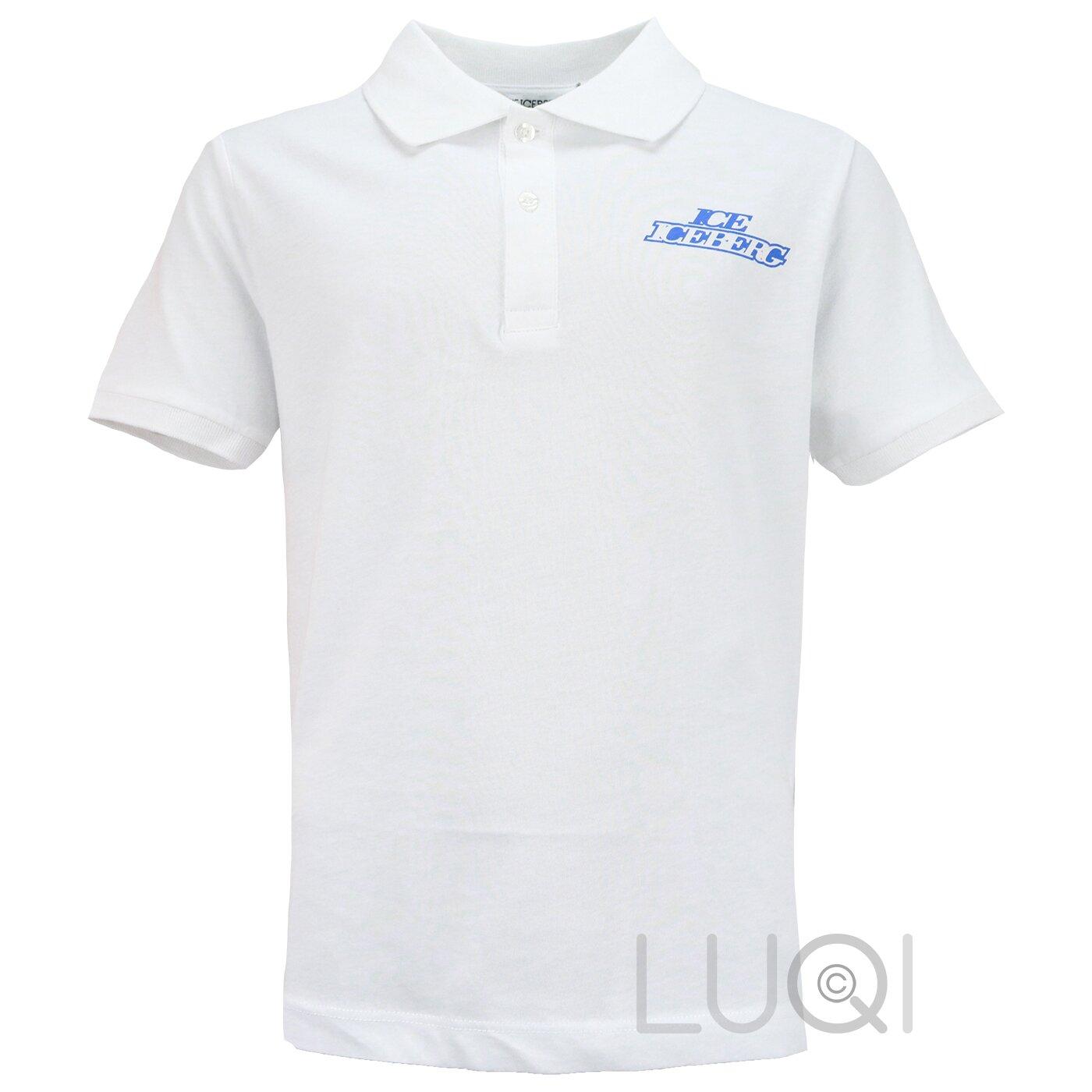 Iceberg Poloshirt Wit met blauw logo