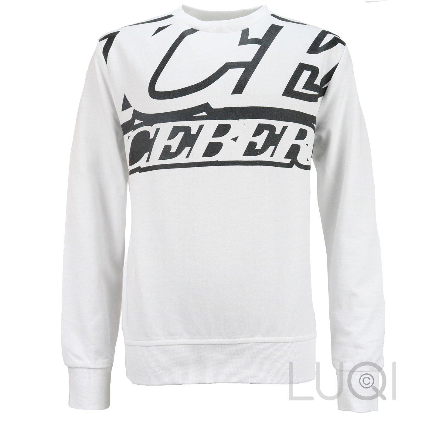 Iceberg Sweater Wit met Zwarte Print