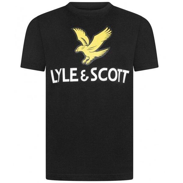 Lyle & Scott Eagle logo shirt zwart