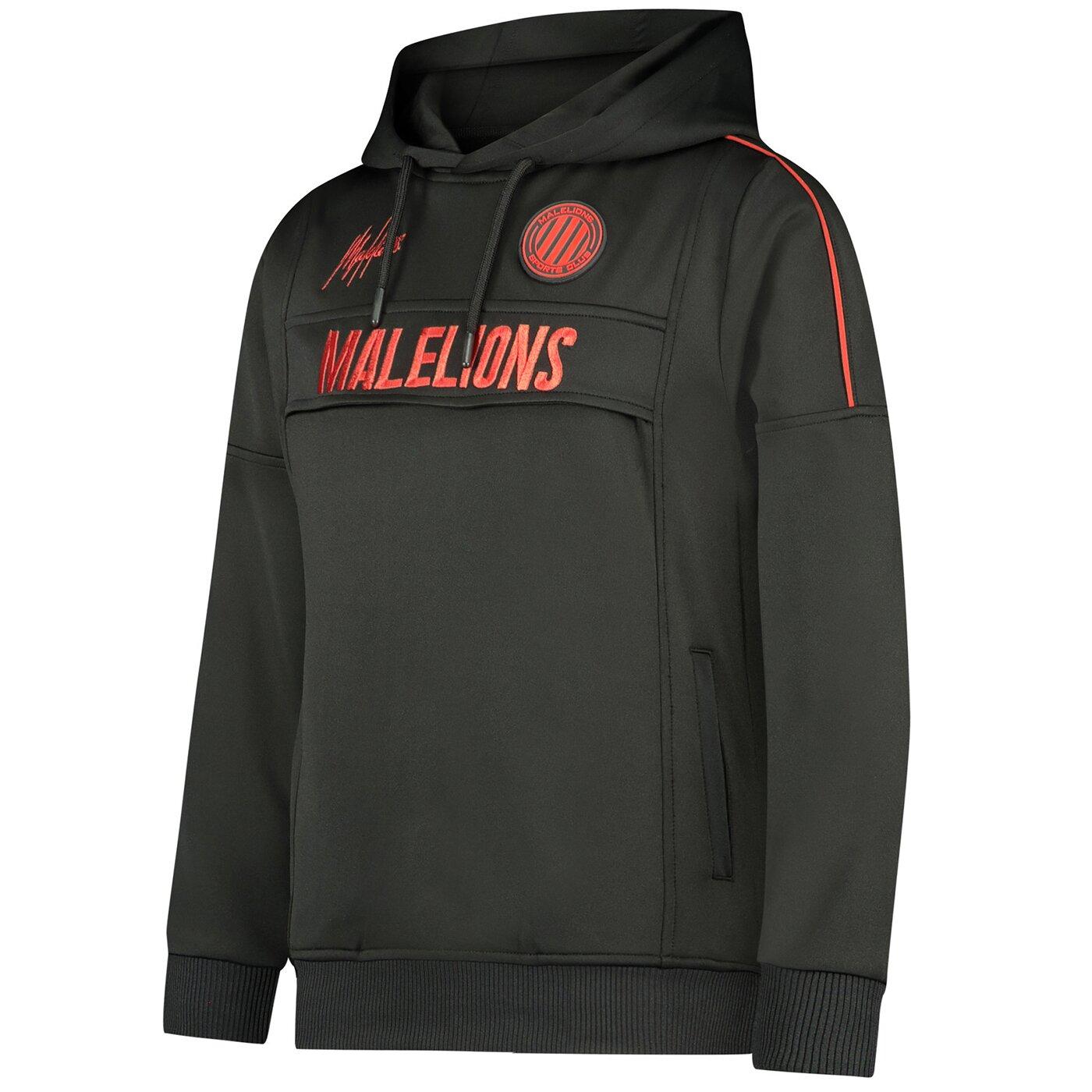 Malelions Sport Warming Up Hoodie Black Red