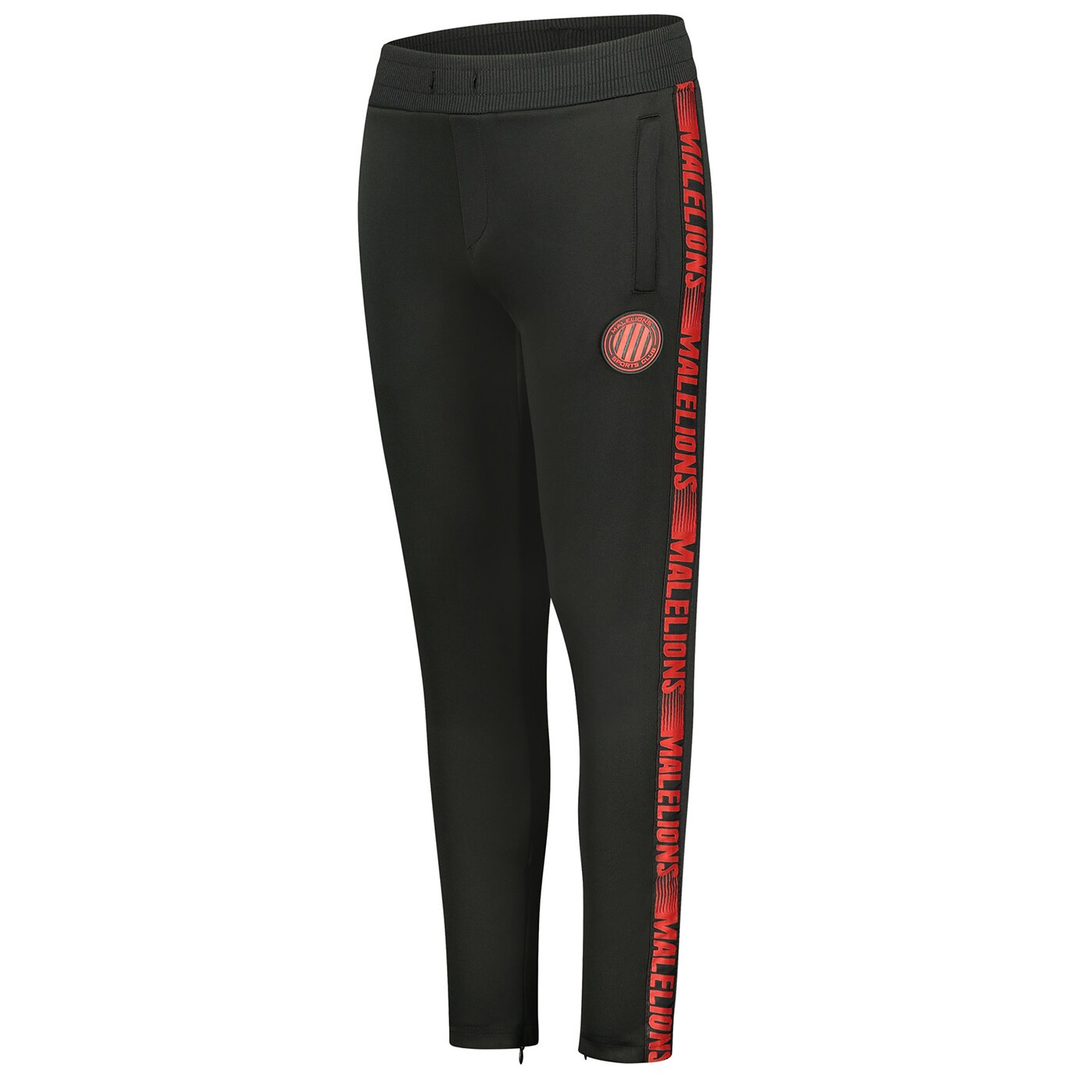 Malelions Sport Warming Up Trackpants Black Red