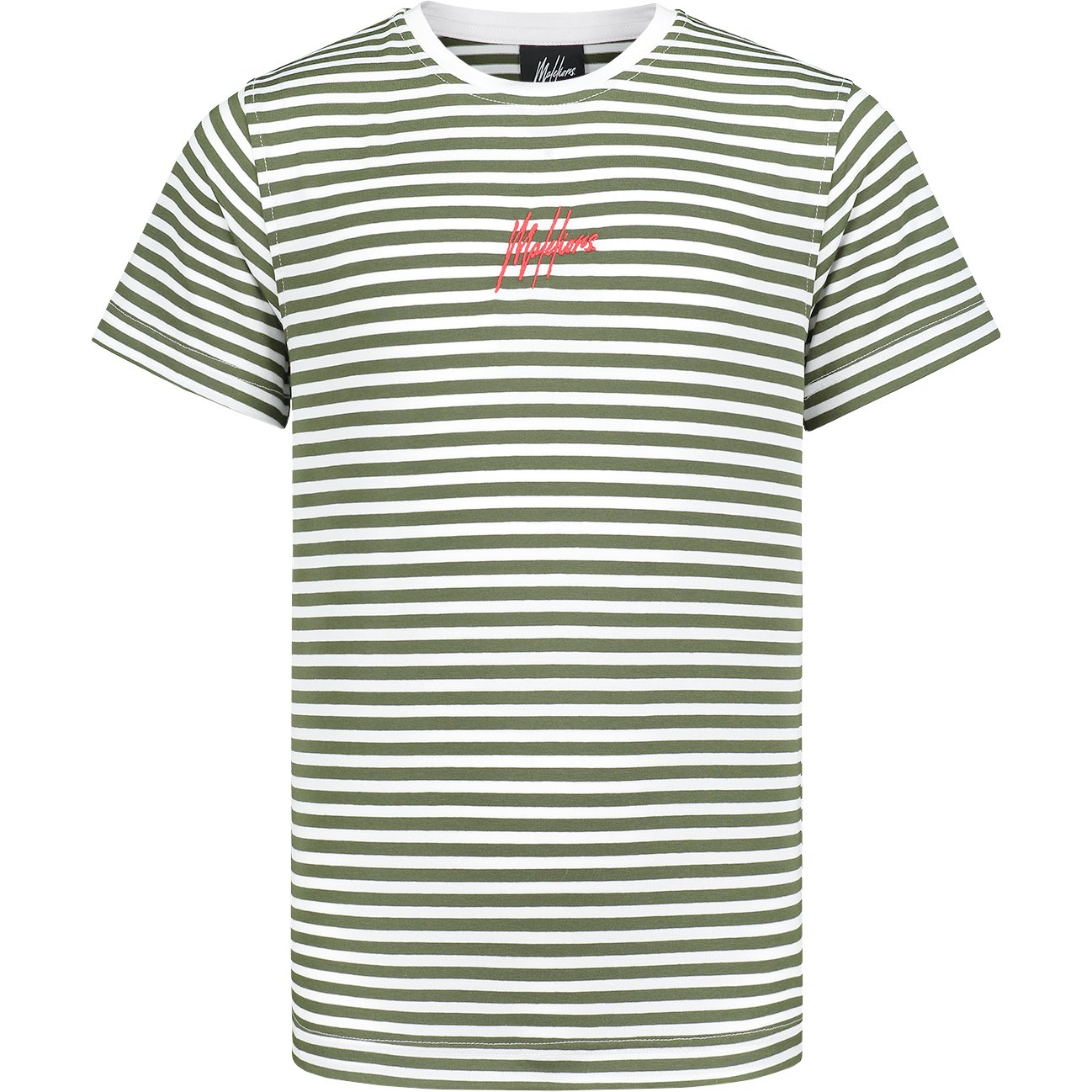 Malelions Shirt Striped Groen