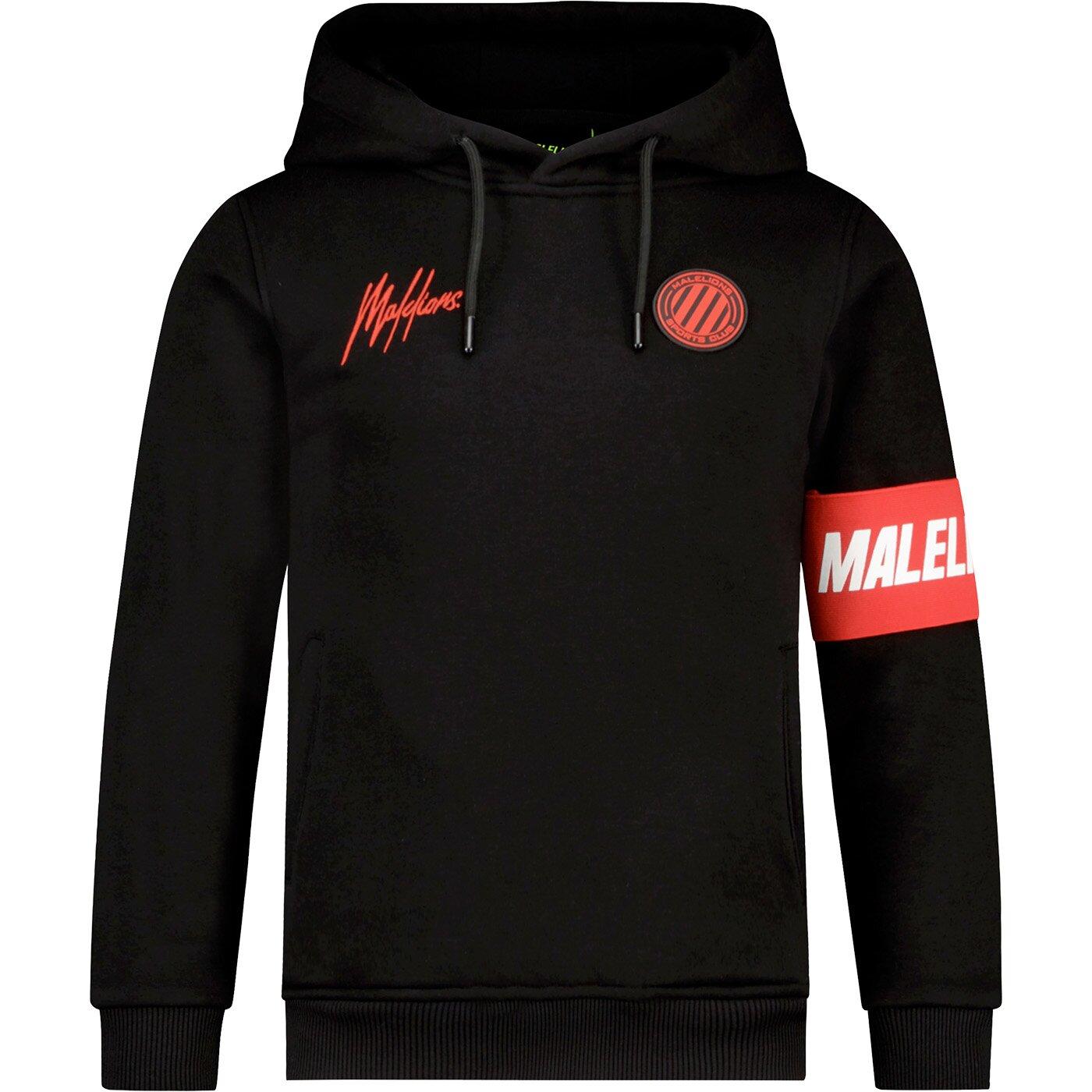 Malelions Sport Captain hoodie MJ-AW21-2-02 zwart
