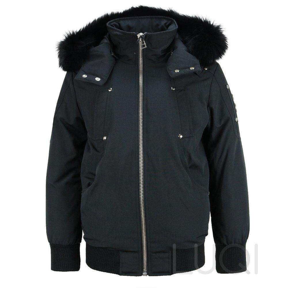 Moose Knuckels Unisex Bomber Black + Black Fur