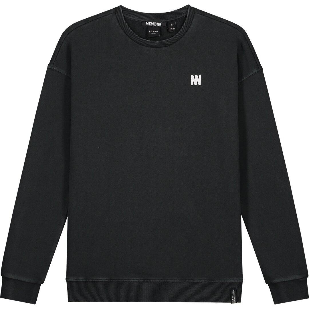 Nik & Nik Warren Sweater zwart B8019