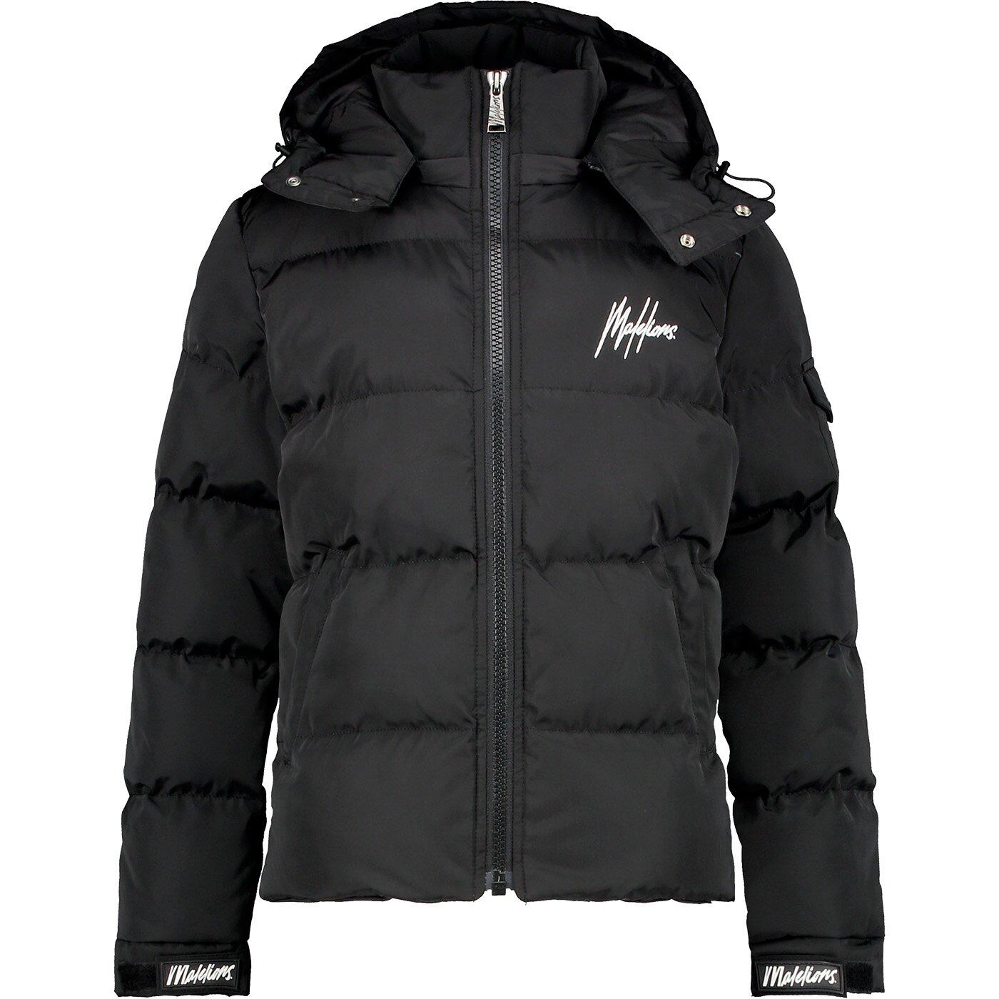 Malelions winterjas MJ-AW21-1-03 zwart met gratis pet
