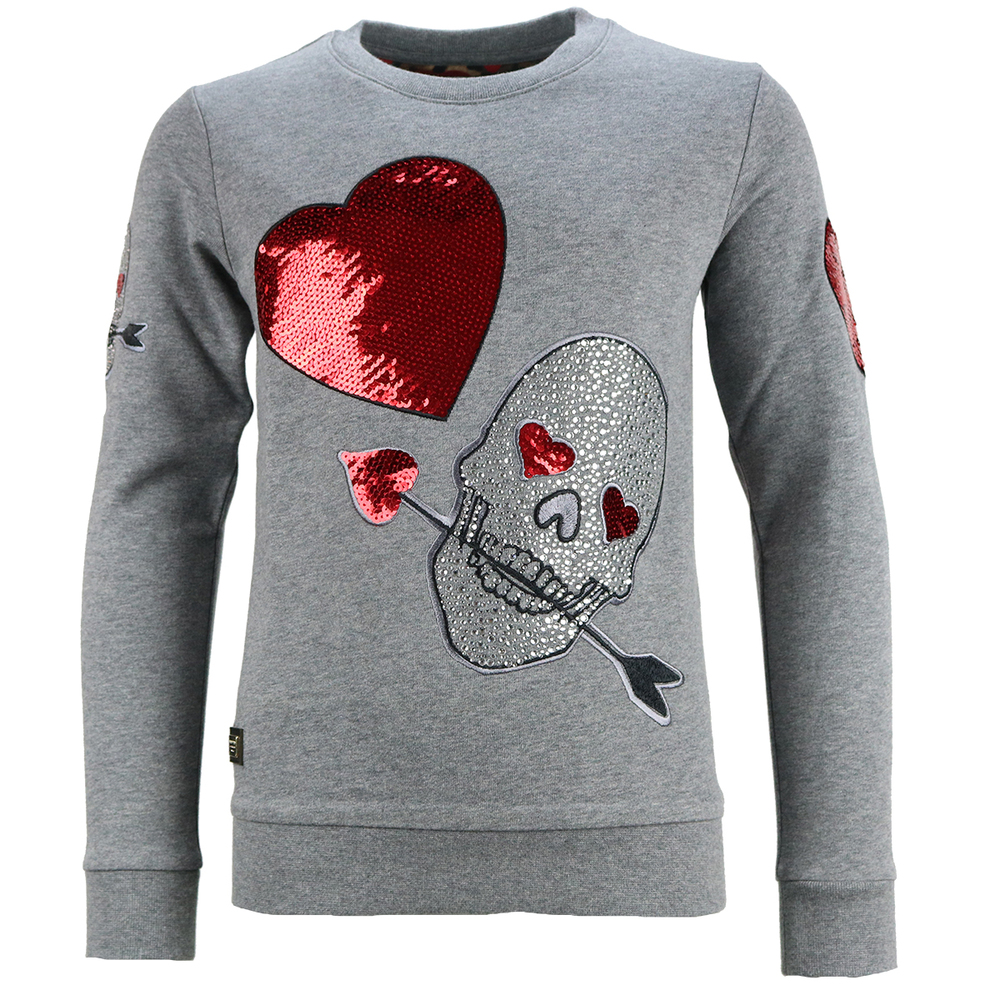 Philipp Plein Girls Sweater Odile Grey