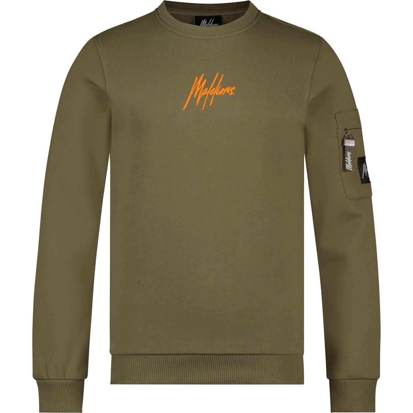 Malelions Pocket Sweater MJ-AW21-1-13 Army Orange