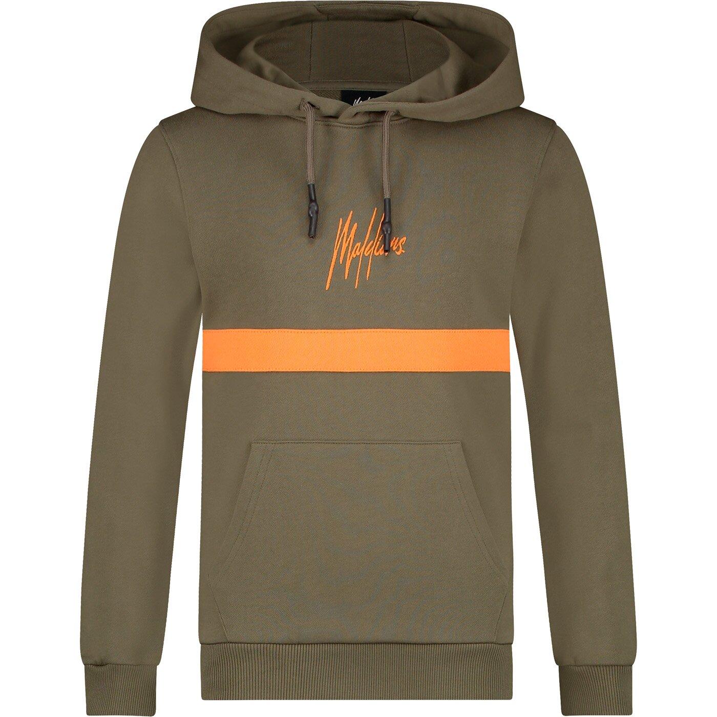 Malelions Tonnie hoodie MJ-AW21-1-11 Army Orange