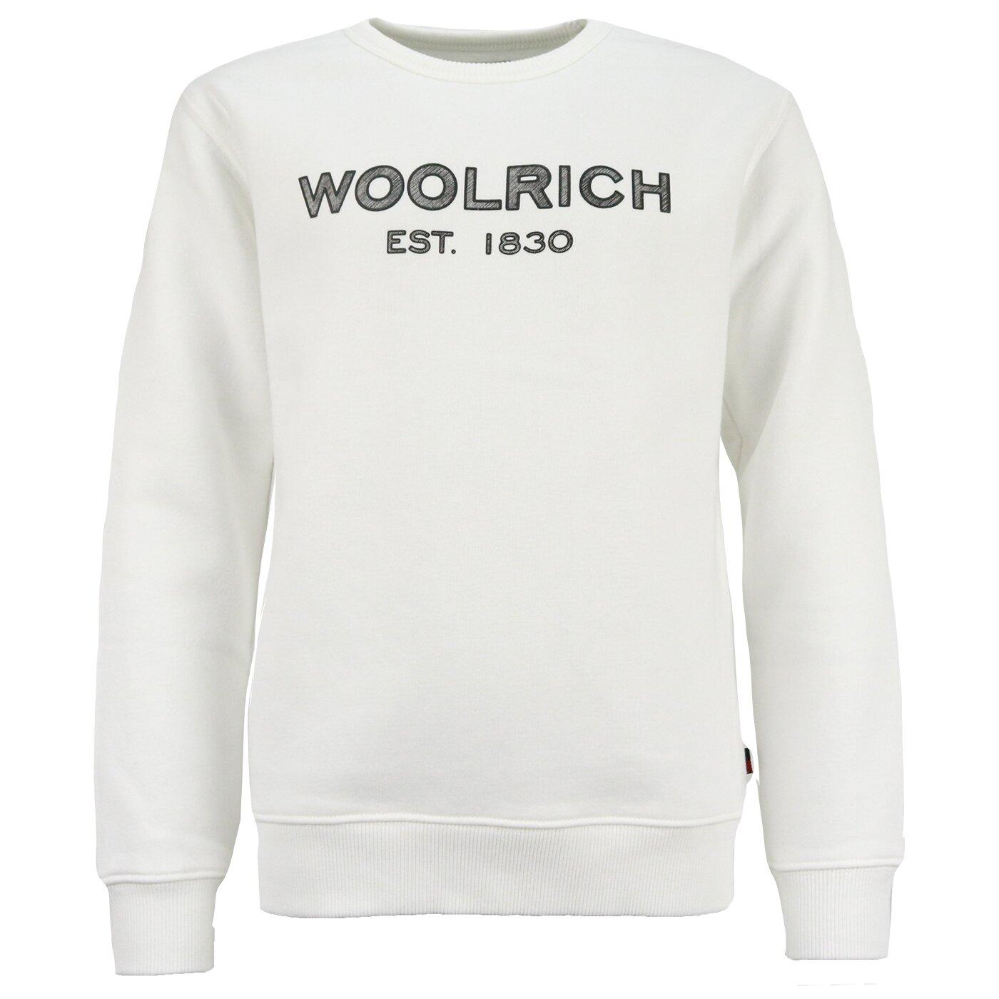 Woolrich Logo Sweater Off White
