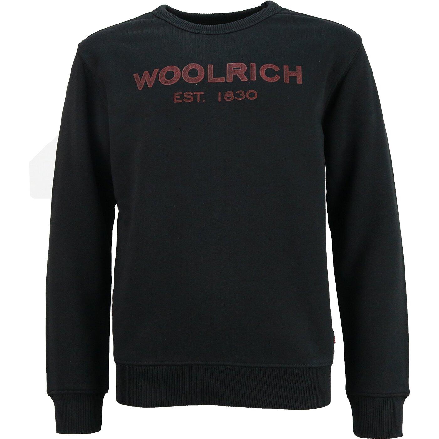Woolrich Logo Sweater Black